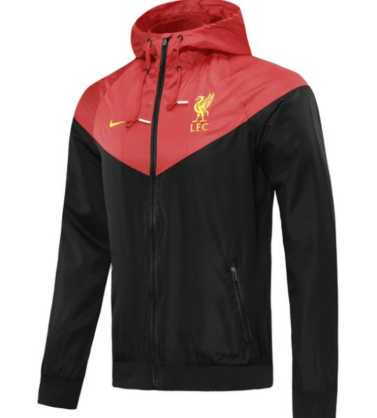 Ветровка Ливерпуль черно-красная сезон 2020/21 Nike