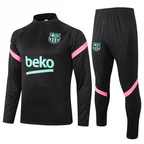 Тренировочный костюм Барселоны 2020-2021 черный сезона