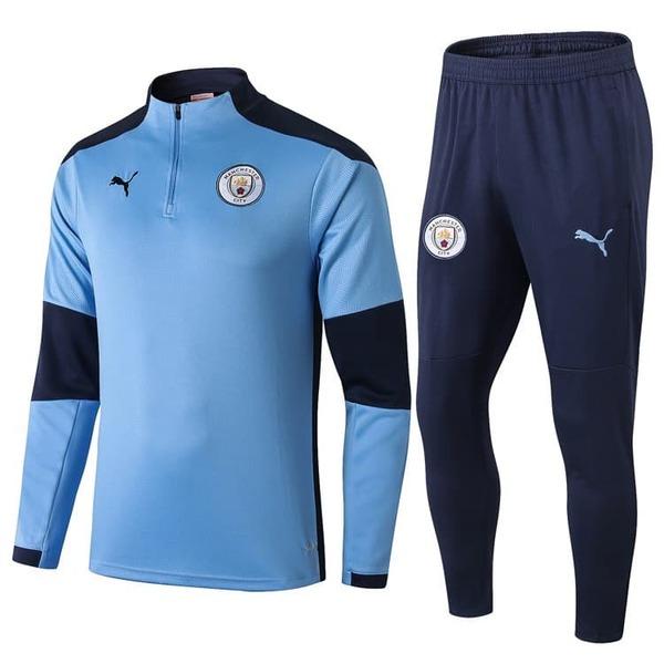Детский тренировочный костюм Манчестер Сити голубой 2020-2021
